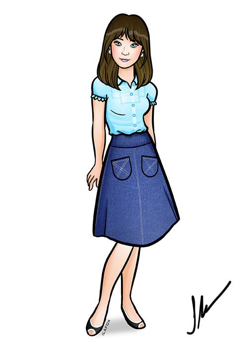 Blue dress 500 days of summer 7th