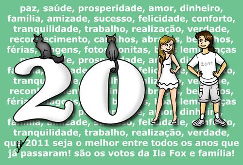 Ilustração, feliz ano novo, ano novo, 2011, by ila fox