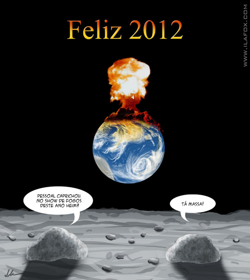 Feliz 2012, Feliz fim do mundo! ilustração by ila fox