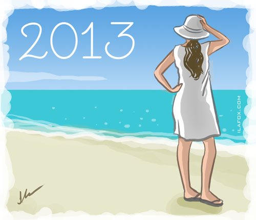 Feliz 2013, ano novo, by ila fox