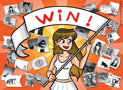 30 Day Drawing Challenge, a congrats banner for finishing the challenge, Desafio dos 30 dias de desenho, banner de congratulações por terminar o desafio, by ila fox