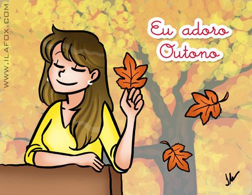 Eu adoro mês de Outono, ilustração by ila fox