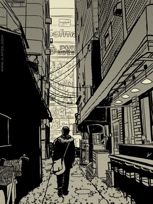 ilustração Tokyo, tokyo, akihabara, ilustração by ila fox