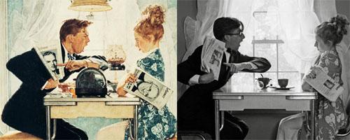 Antes e Depois, referencias fotograficas, Norman Rockwell, dicas para ilustradores by ila fox