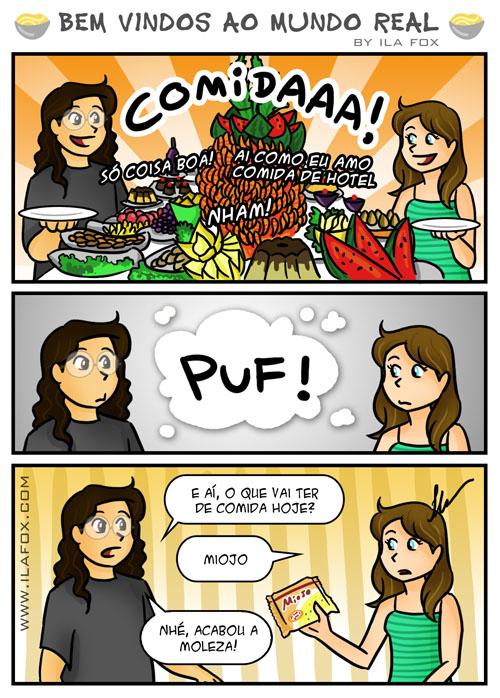 comida de buffet de hotel, quadrinhos by ila fox