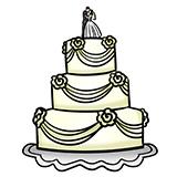 desenho, relacionamento e bolos, que bolo é o seu relacionamento?, bolo de casamento, bolo