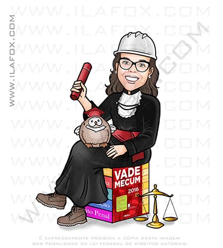 Caricatura personalizada, caricatura formanda, caricatura formatura, caricatura direito, caricatura digital, by ila fox