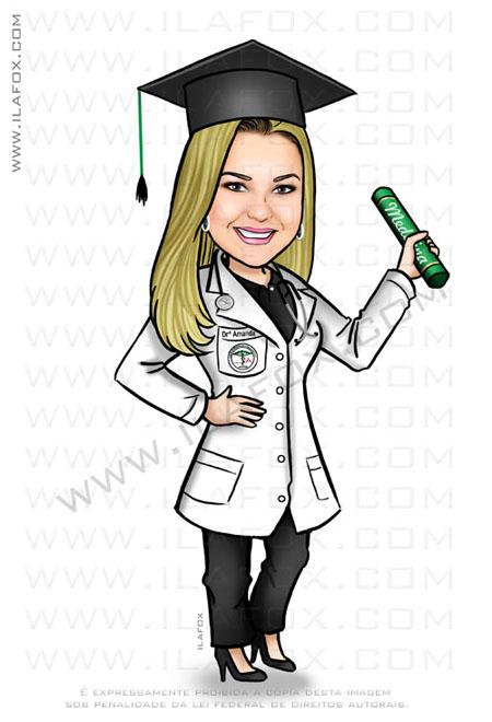 caricatura formanda, caricatura formatura, caricatura medicina, by ila fox