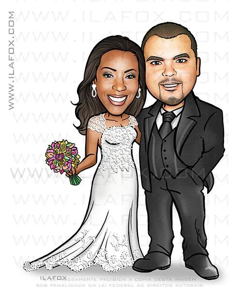 caricatura noivos, caricatura casal, caricaturas bonitas, caricaturas para casamento, by ila fox