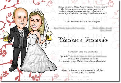 Caricatura noivinhos, caricatura noivos segurando copo de chopp, caricatura para casamentos by ila fox