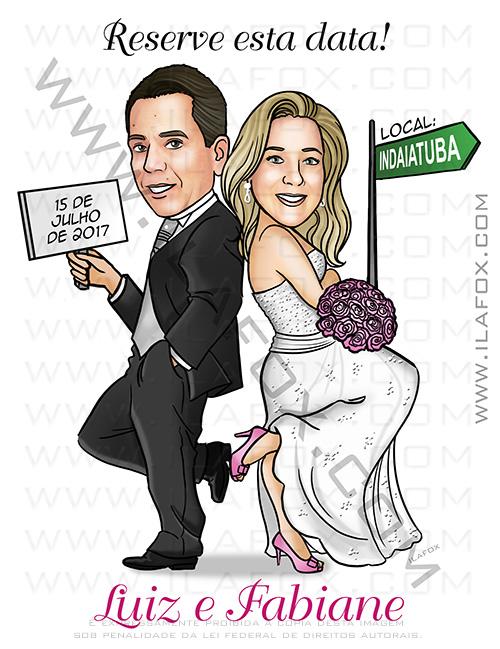 caricatura casal de noivos, caricatura bonita, caricatura digital, caricatura clássica, caricatura para casamento, by ila fox