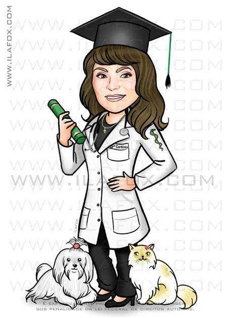 caricatura formatura, caricatura formanda, caricatura medicina, by ila fox