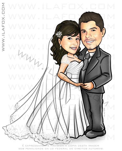 caricatura para casamento, caricatura noivinhos, caricatura casal, caricatura noivos, by ila fox