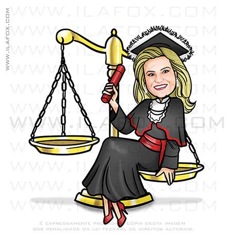 caricatura formanda, caricatura direito, caricatura advogada, caricatura balança direito, caricatura formatura, by ila fox