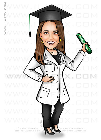 caricatura formando, caricatura formatura, caricatura medicina, caricatura bonita, by ila fox