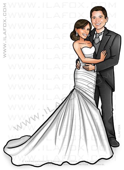 caricatura proporcional, caricatura personalizada noivos, by ila fox
