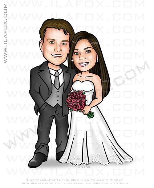 caricatura clássica, caricatura casal, caricatura bonita, caricatura para casamento caricatura noivinhos, by ila fox