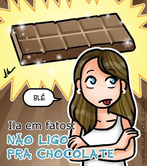 Não ligo pra chocolate, não gosto de chocolate, ilustração by ila fox