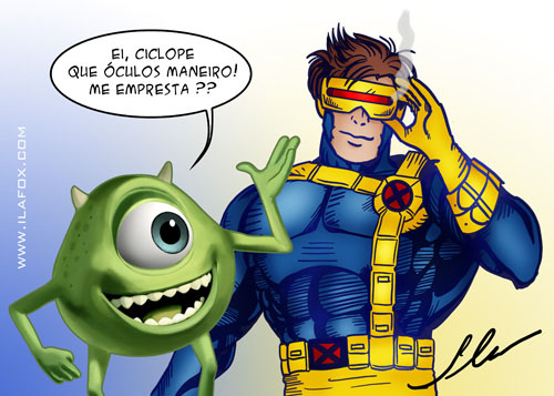 ciclope ciclops x-men mike monstros sa by ila fox