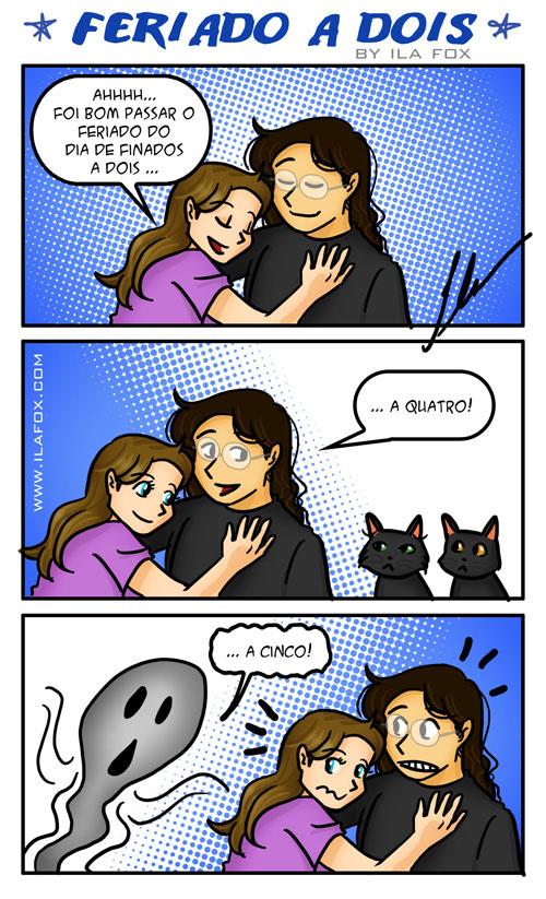quadrinhos do feriado dia de finados, feriado a dois, by ila fox
