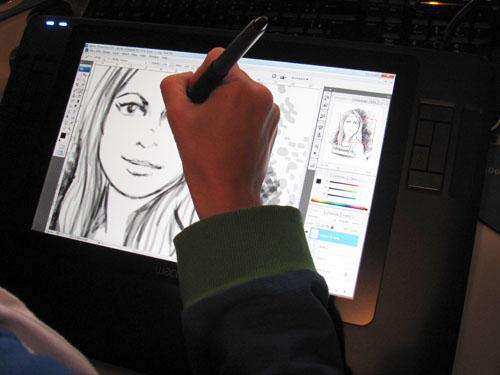 teste desenho preto e branco tablet cintiq wacom, dicas para ilustradores,
