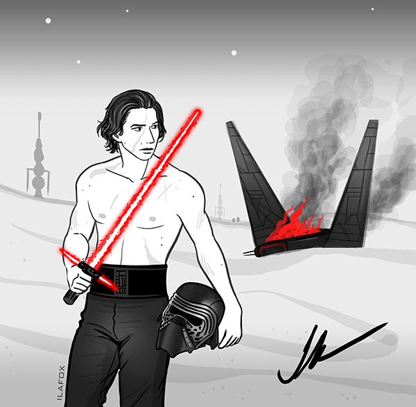 kylo ren, adam driver, sem camisa, shirtless, star wars, reylo, reylotrash, nave caída no deserto