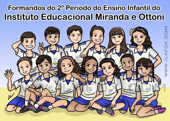 Convite escola formandos alunos 2º período ensino infantil miranda ottoni ilustração by ila fox