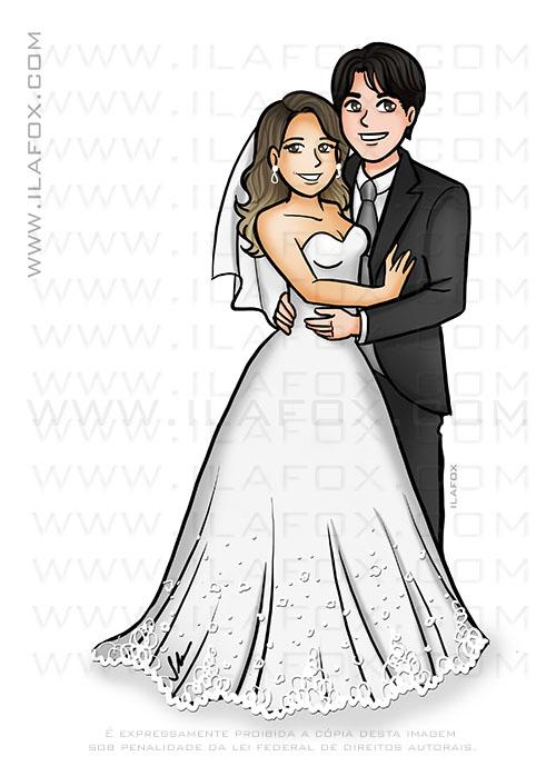caricatura noivos, caricatura elegante, caricatura bonita, caricatura sem exagero, caricatura para casamento, caricatura sob encomenda, by ila fox