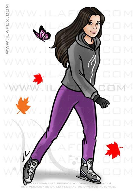 caricatura, caricatura desenho, caricatura patinando, canadá, by ila fox