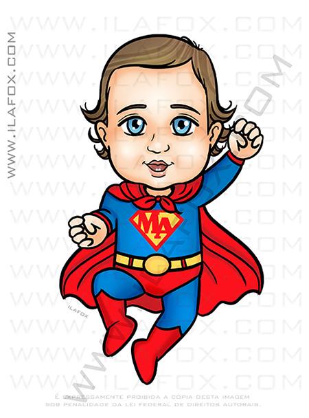 caricatura infantil, caricatura super herói, caricatura super bebê, caricatura personalizada, caricatura divertida, caricatura para crianças, by ila fox