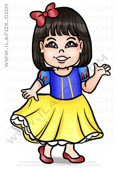caricatura infantil, caricatura para criança, caricatura, branca de neve, by ila fox