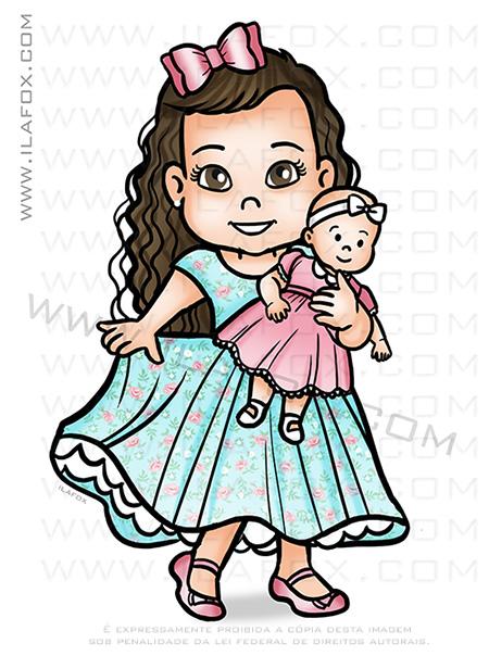 desenho personalizado, desenho criança, desenho festa infantil, caricatura criança, by ila fox