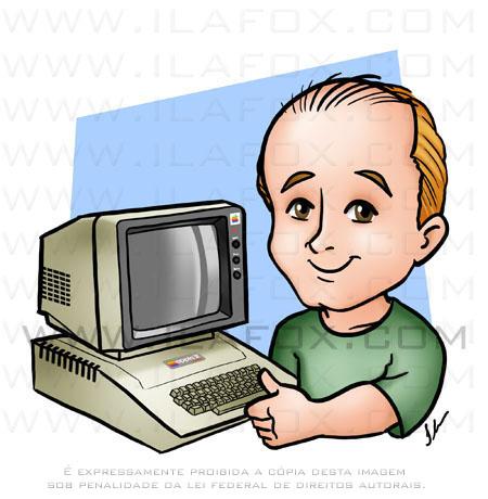 Desenho avatar Chester, Apple II, ilustração by ila fox