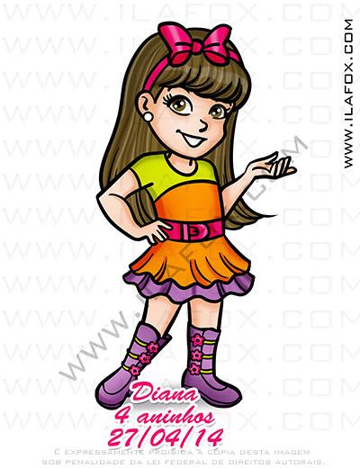 Caricatura personalizada, caricatura temática, caricatura polly, caricatura infantil, by ila fox