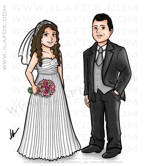 caricatura desenho, caricatura casal, caricatura noivinhos, caricatura para casamento, caricatura perto longe, by ila fox