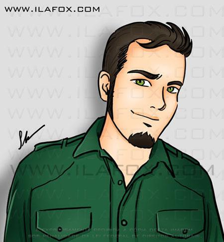 desenho, caricatura Pedro Giglio, Jigu, Arcadia, by Ila Fox