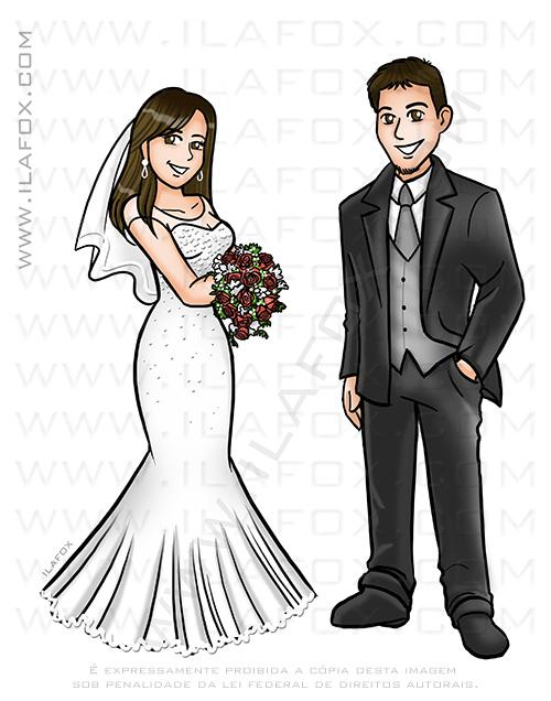 caricatura casal, caricatura bonita, caricatura para casamento, caricatura noivos, caricatura noivinhos