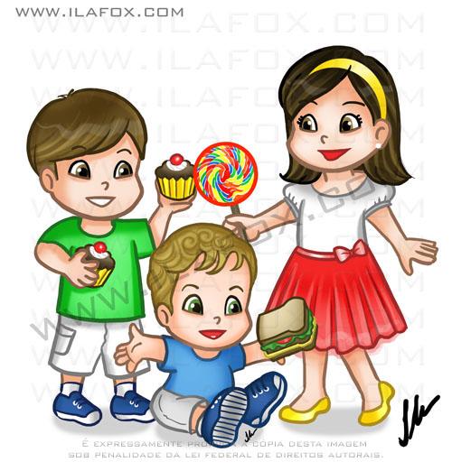 desenho personalizado, caricatura infantil personalizada, by ila fox