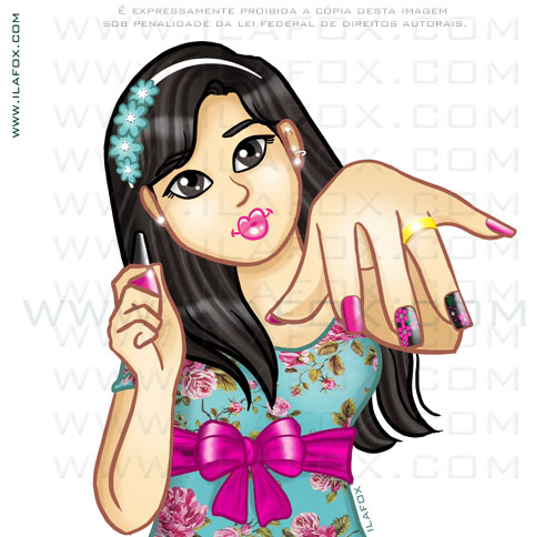 desenho, Kátia Unhas, unhas decoradas, sobre copiar arte da internet, uso indevido de imagem, direitos autorais, ilustração by ila fox