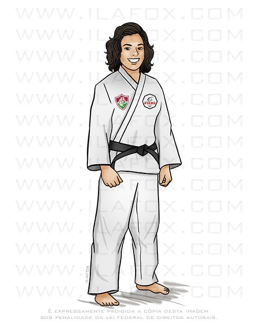 caricatura judo, caricatura personalizada, caricatura desenho, caricatura digital, by ila fox