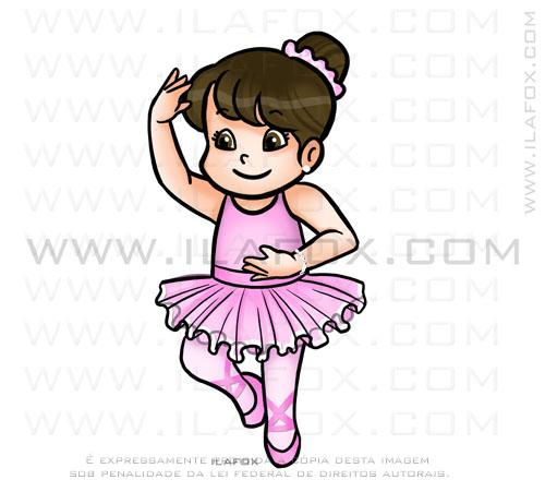 caricatura fofinha, bailarina, by ila fox