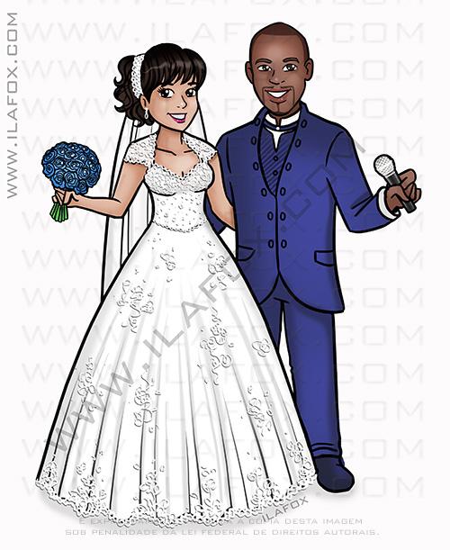 caricatura casal, caricatura noivos, caricatura noivo negro, caricatura bonita, caricatura para casamento, by ila fox