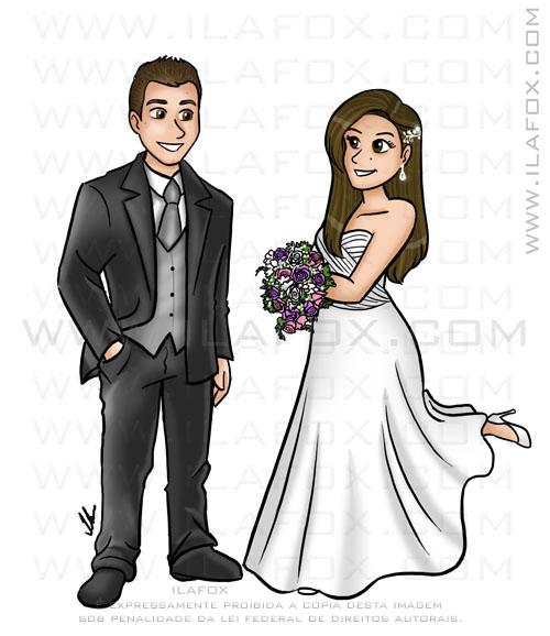 caricatura noivinhos, caricatura convite perto longe, caricatura para casamento, by ila fox