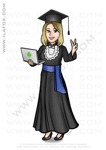 caricatura formatura, caricatura formanda, tecnologia