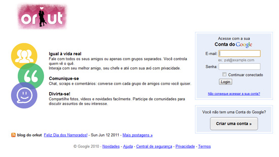 Doodle de dia dos Namorados Orkut by ila fox