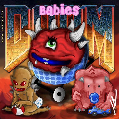 doom babies personagens do doom em versão bebê por ila fox