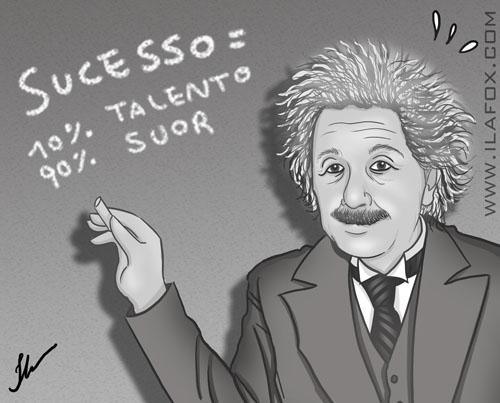 O mito do talento, einsten, Edison, 10% talento 90% suor, dicas para ilustradores, ilustração by ila fox