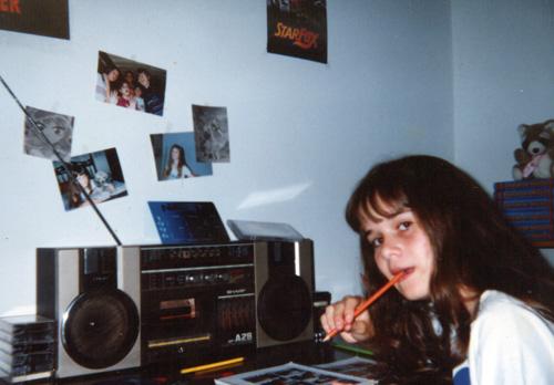 escrivaninha da Ila Fox na adolescência em Santa Cruz do Rio Pardo