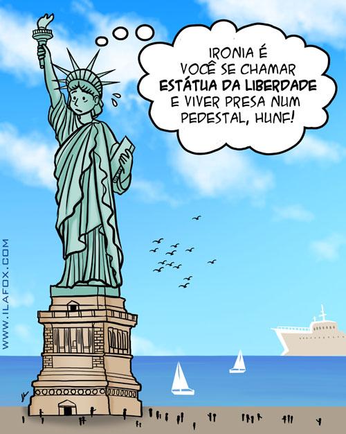 Estátua Liberdade, sem liberdade, liberdade é relativo, by ila fox
