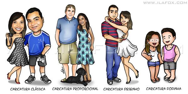 Estilo de Caricatura, caricatura proporcional, caricatura clássica, caricatura desenho, caricatura fofinha, caricatura para casais, caricatura para noivos, caricatura para crianças, caricatura para formandos, by ila fox